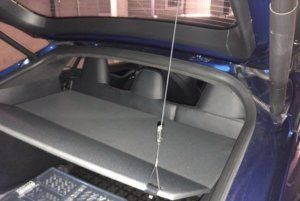 Tesla trunk shelf lift retrofit for Model S