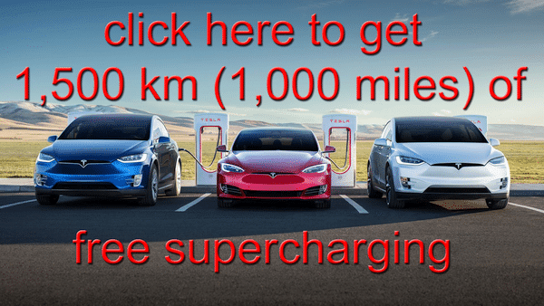 When you buy a Tesla you get 1500 km of free Supercharger credit here