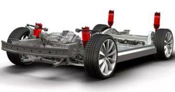 Tesla air suspension