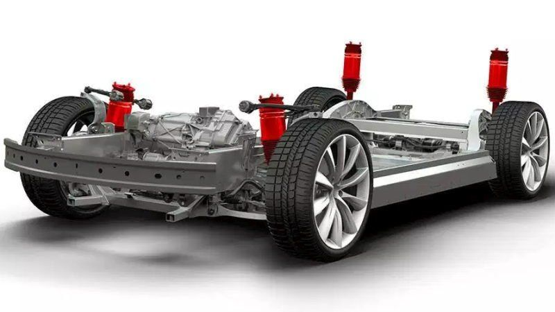 Tesla air suspension