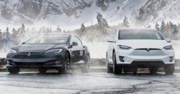 Tesla Model S and X Winter lower range