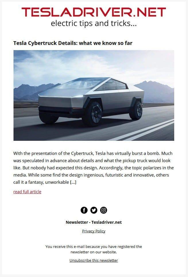 Teslawissen.ch Newsletter