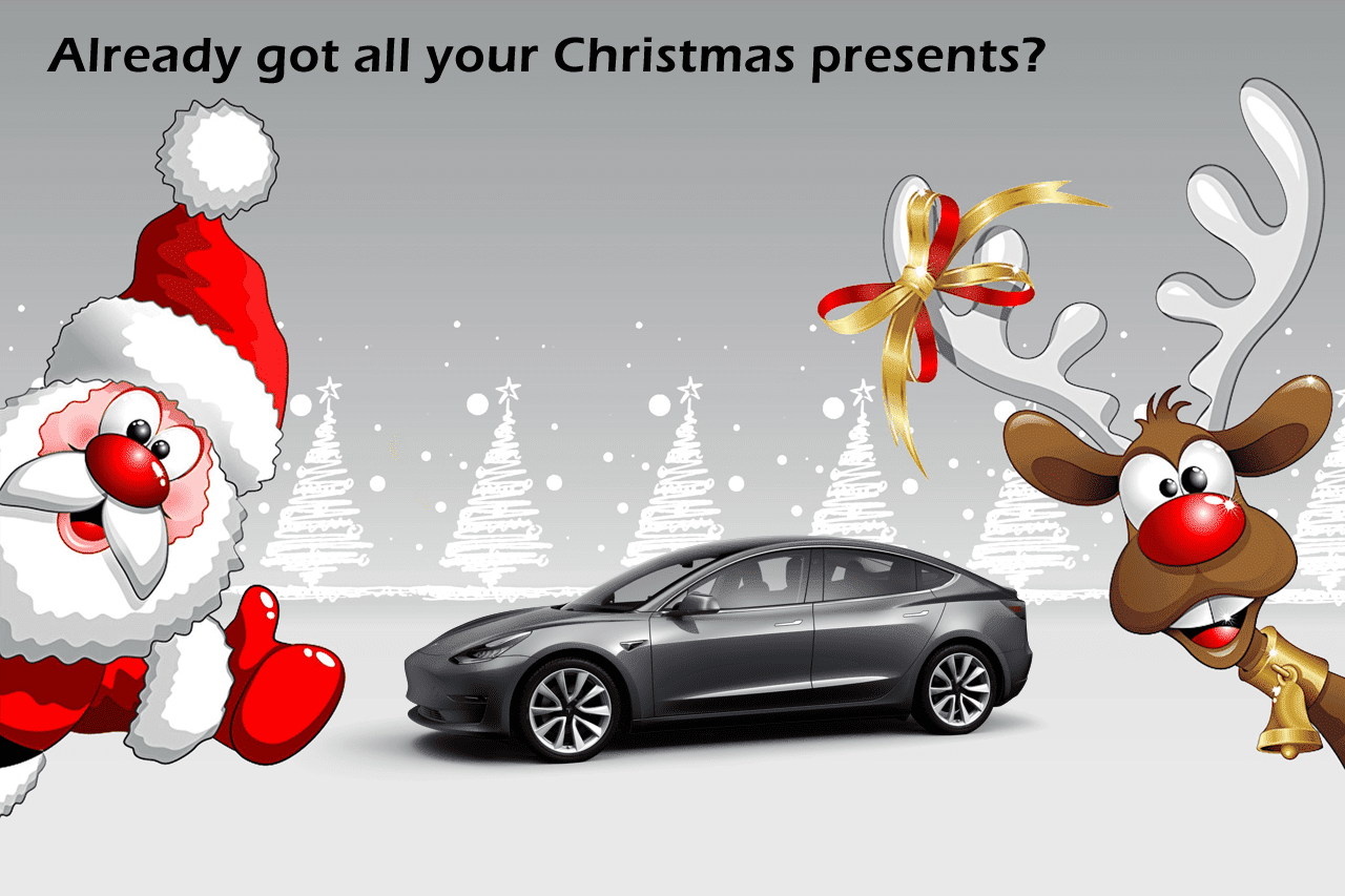 X-Mas Gifts for Tesla Fans. Not only for Christmas