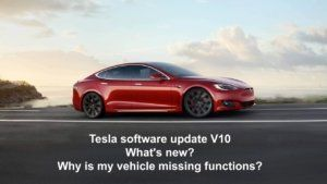 Tesla Software Update V10: New features and differences