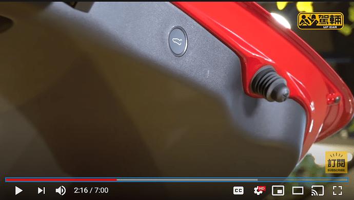 Tesla Model 3 Refresh trunk button