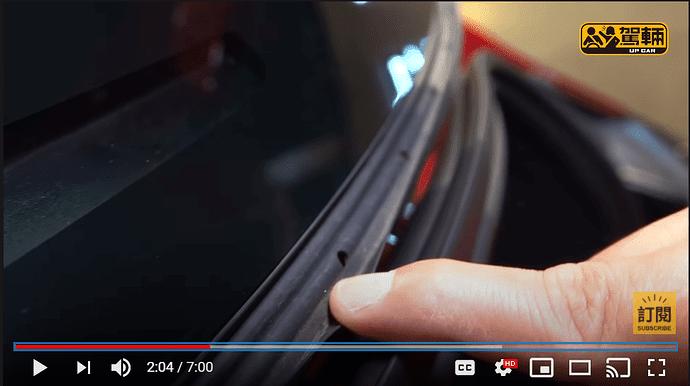 Tesla Model 3 Refresh trunk seal
