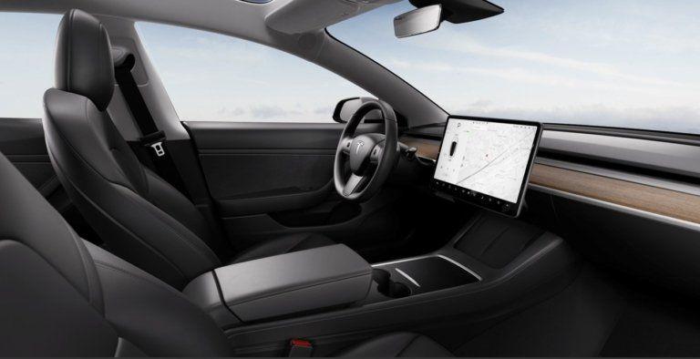 Tesla Model3 refresh facelift 2021 interior
