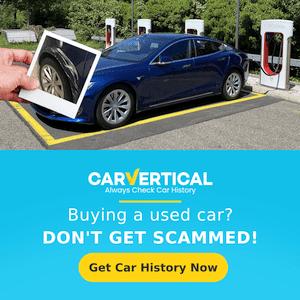 Carvertical Tesla Banner